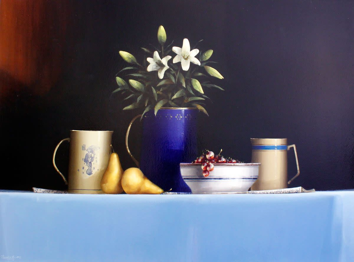 Still Life with Lillies and Pears