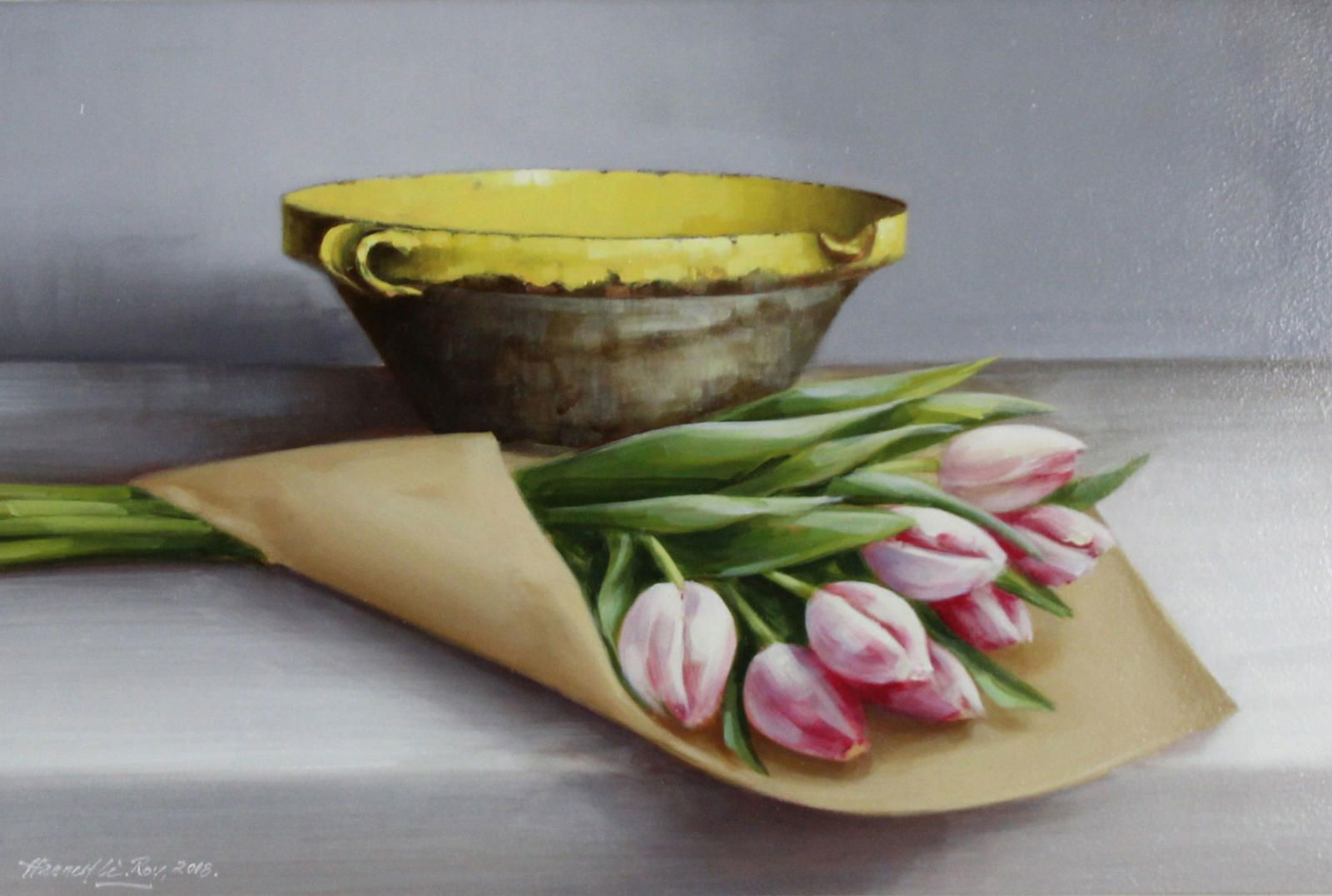 French Confit Bowl and Tulips