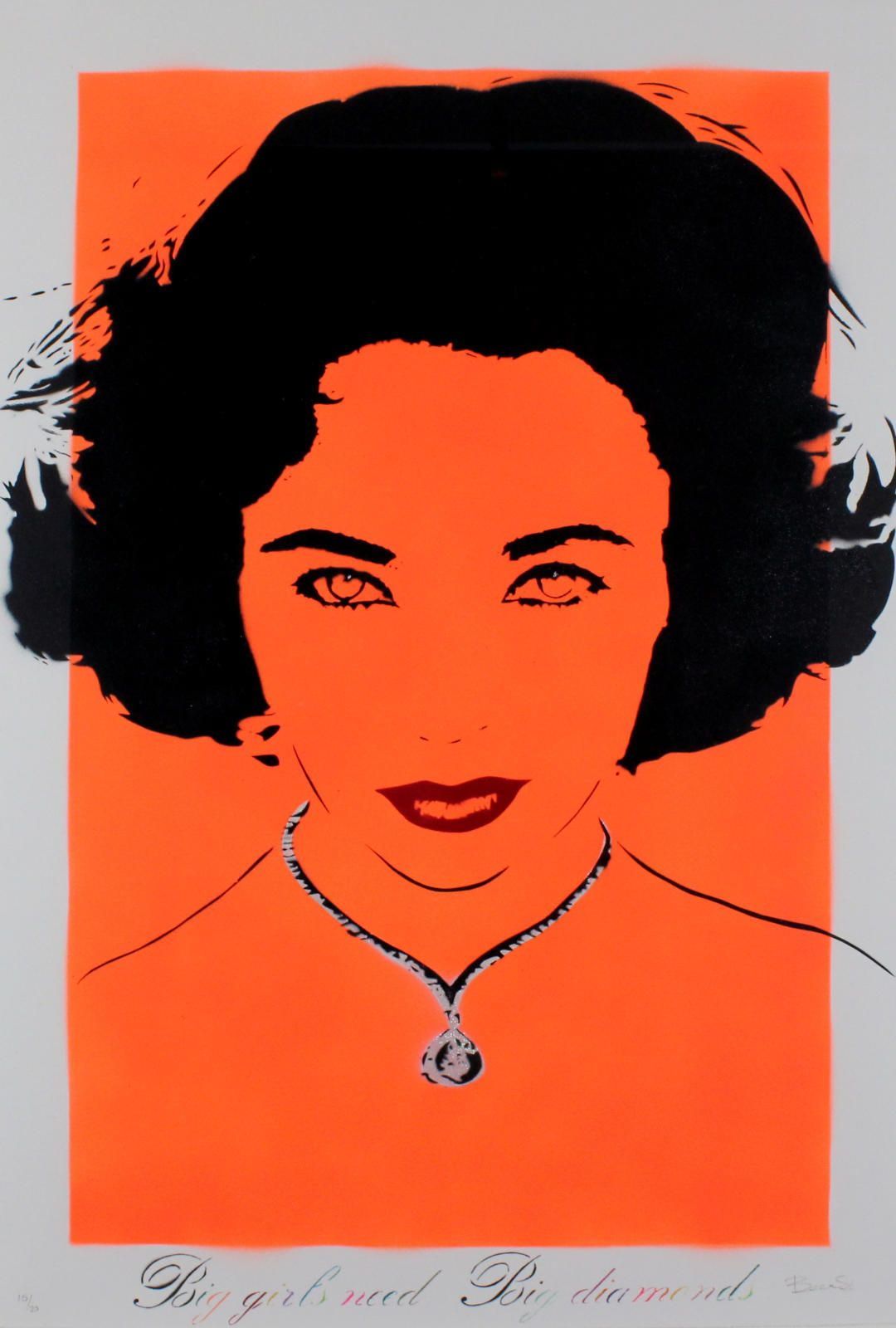 Big Girls Need Big Diamonds (Liz Taylor - Orange)