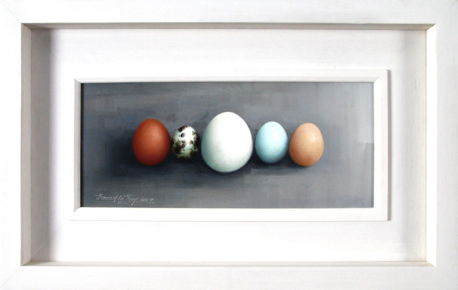Egg Row on Grey II