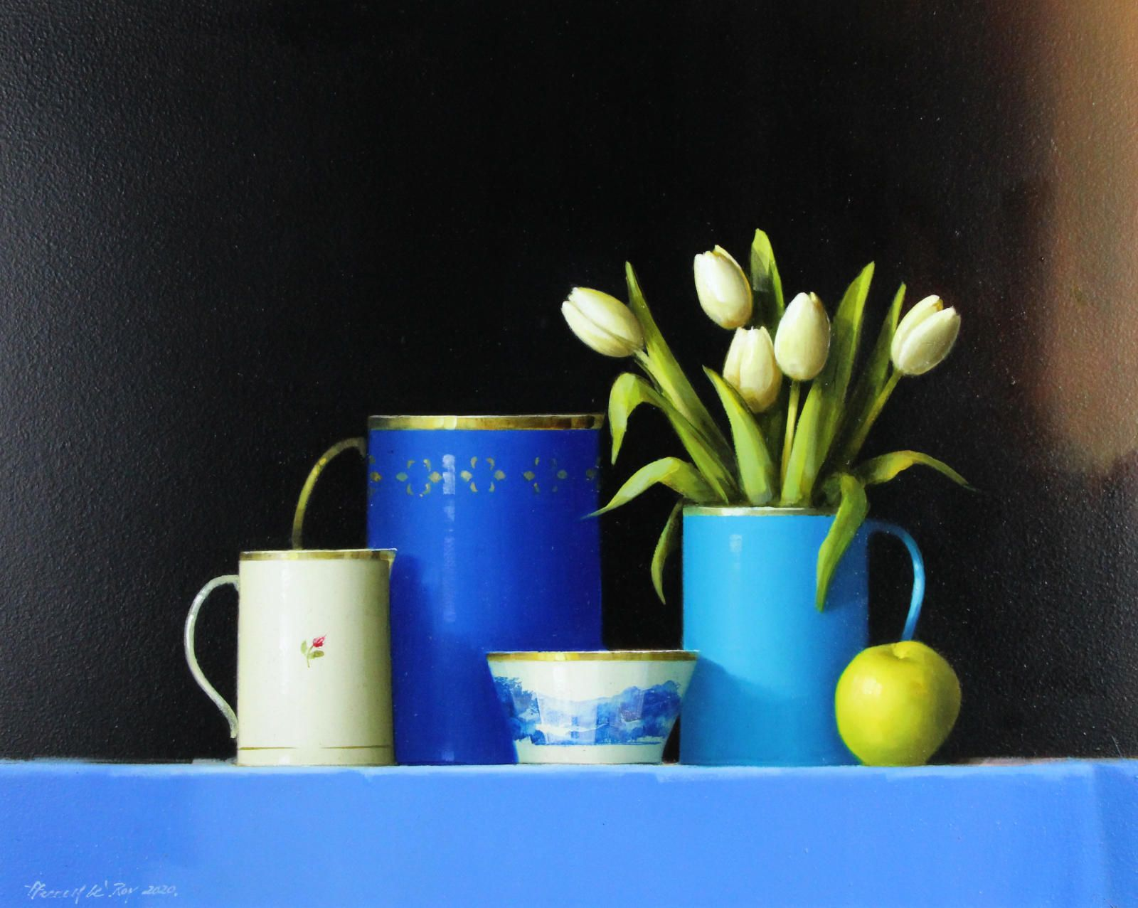 Turquoise Jug and Tulips