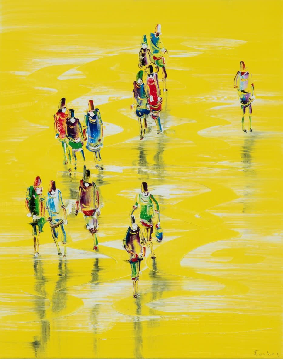 Figures on Yellow Ground