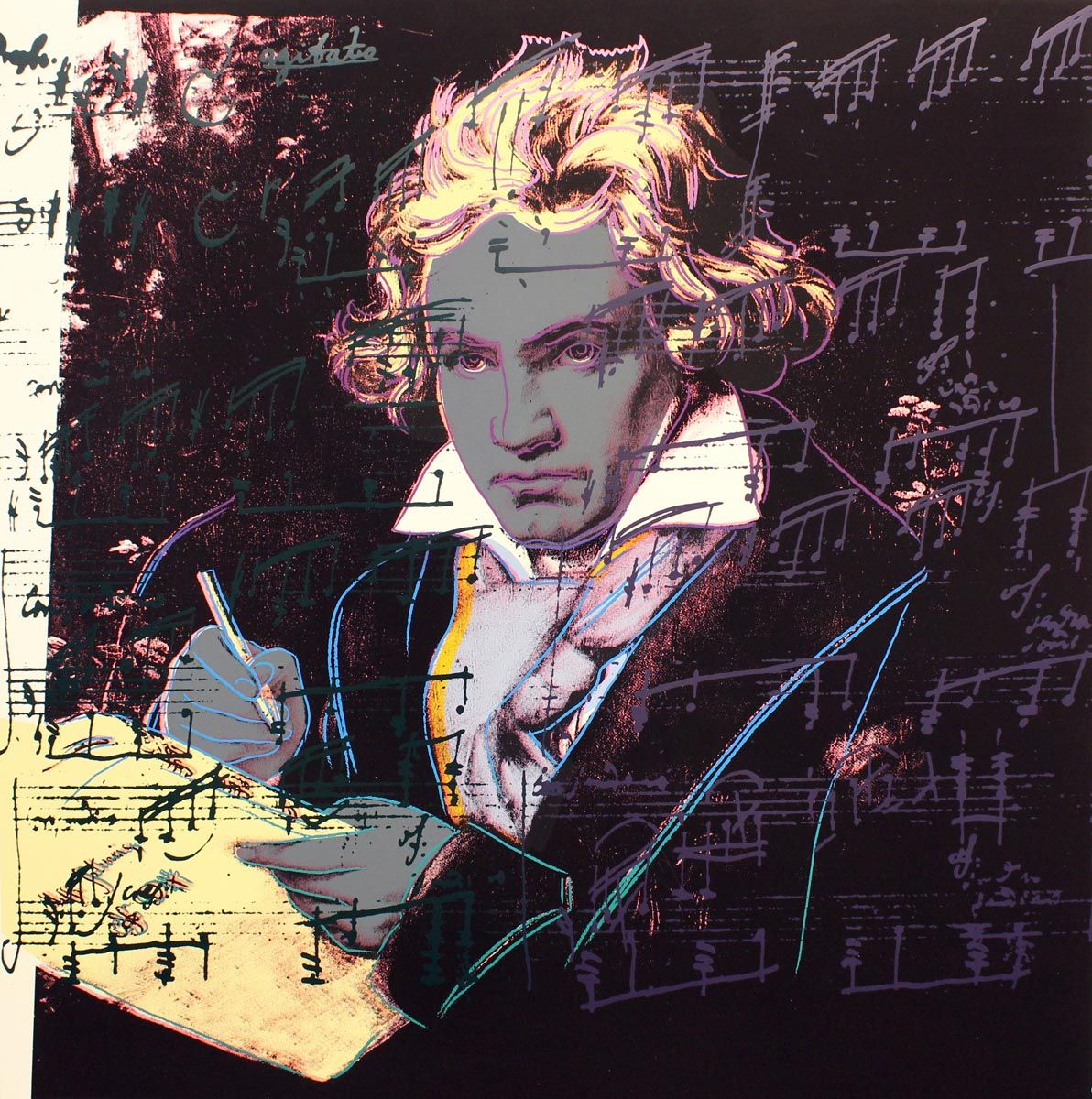 Beethoven (FS II.393) by Andy Warhol