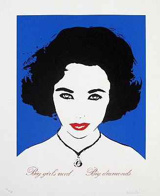 Big Girls Need Big Diamonds (Liz Taylor - Dark Blue)