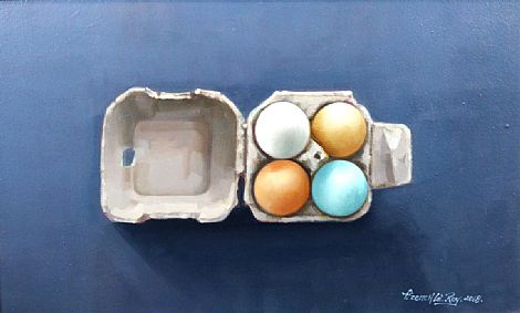 Carton of Four Eggs by David French Le-Roy