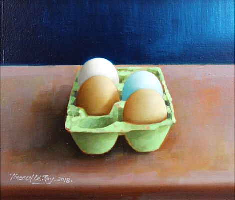 Egg Blue by David French Le-Roy