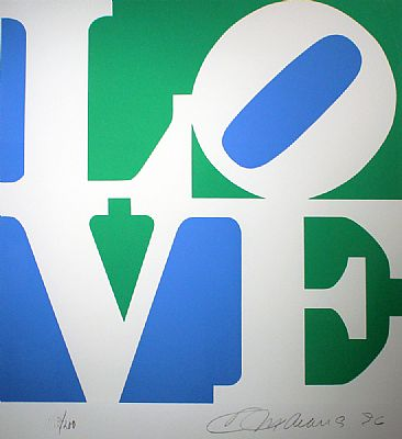 Love, Green and Blue From The Book Of Love by Robert Indiana
