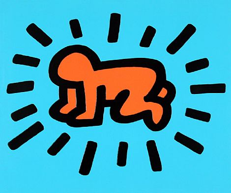 Radiant Baby (Icons)  by Keith Haring