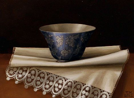 Chinese Bowl and White Lace