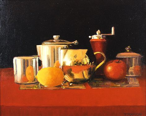 Still Life with Lemon and Apple