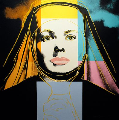 The Nun, Ingrid Bergman (FS II.314) by Andy Warhol