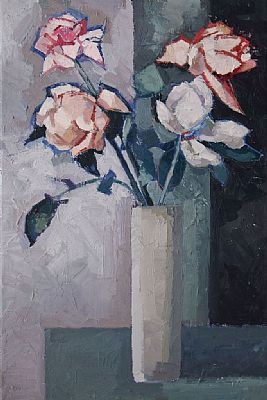 A Vase of Roses II